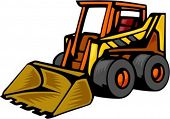 Skid Steer loader.Vector illustration