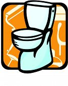Toilet.Pantone colors.Vector illustration