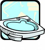 stock photo of clawfoot  - Luxurious bathtub - JPG
