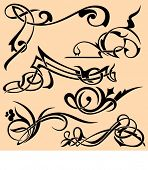 A set of 6 advanced ornamental design elements. These are very PRECISELY done elements, the lines ar