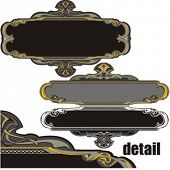 A pack of 3 very CLEAN and EXQUISITE panels with ornamental elements. All vectors are ready for viny