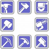 A set of 8 vector icons of tool objects. Check my portfolio for many more images of this series.
