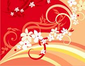 Vector background with floral ornaments.