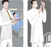 A set of 2 medical illustrations.