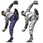 Baseball pitcher. Vector illustration