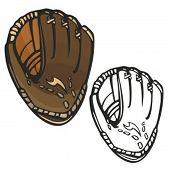 Baseball glove. Vector illustration