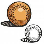 Baseball ball. Vector illustration