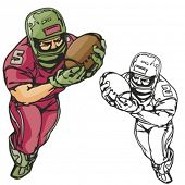American football player. Vector illustration