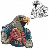 Eagle Football Mascot. Great for t-shirt designs, school mascot logo and any other design work. Ready for vinyl cutting.