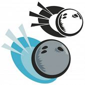 Bowling ball. Vector illustration