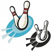 Bowling pins. Vector illustration