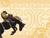 stock photo of bareback  - Western Rodeo Background Series - JPG