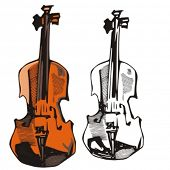 Music Instrument Series. Vector illustration of a violin.