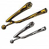stock photo of tuning fork  - Music Instrument Series - JPG