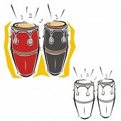 picture of congas  - Music Instrument Series - JPG