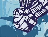 Motorcycle Grunge Background Series.