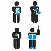 A set of 4 profession icons series. Check my portfolio for much more of this series.