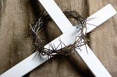 Crown Of Thorns On Cross