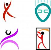 Human Shape Logo Design Elements.