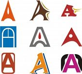 Alphabetical Logo Design Concepts. Letter A. Check my portfolio for more of this series.
