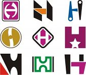 Alphabetical Logo Design Concepts. Letter H. Check my portfolio for more of this series.