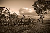 Plough In Sepia