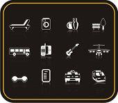 Série exclusiva dos ícones de serviços do Hotel. Confira meu portfólio para muito mais desta série, bem como