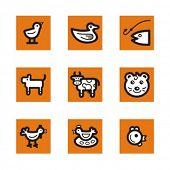 Exklusiv-Reihe Tiere Symbole. Prüfen Sie mein Portfolio für viel mehr von dieser Serie sowie in