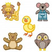 Baby icons series. Animals. Check my portfolio for much more of this series as well as thousands of