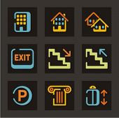 Conjunto de ícones de hotéis e turismo. Confira meu portfólio para muito mais desta série, bem como milhares de