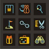 Recreation icons set. Check my portfolio for much more of this series as well as thousands of simila