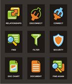 Color Icon Series. Database icons set. Check my portfolio for much more of this series as well as th