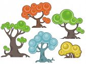 Vector tree designs in a cartoon style. Check my portfolio for more of this series as well as thousa