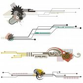 Abstract technical design elements with circuit details. Check my portfolio for much more of this se