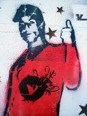 Grafitti Stencil Young Man Stars