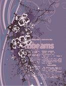Modern floral design with a textual background, vector illustration series.