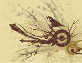 Abstract grunge design, vector illustration.