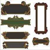 A set of CLEAN and EXQUISITE color panels with ornamental elements. All vectors are ready for vinyl