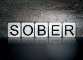 Sober Tiled Letters Concept And Theme poster