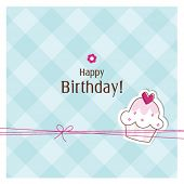image of happy birthday card  - Birthday card with copy space - JPG