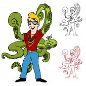 picture of swingers  - An image of a swinger with octopus arms - JPG