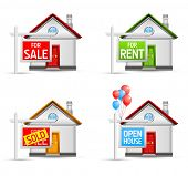 stock photo of house rent  - real estate icons set 3  - JPG