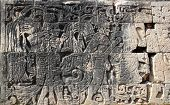 Chichen Itza hieroglyphics mayan pok-ta-pok ball court  Mexico