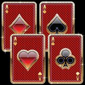playing cards old gold style
