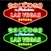 Neon Las vegas road sign