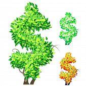 Vektor-Illustration eine zusätzliche detaillierte Baum Alphabet Symbole. Leicht abnehmbare Krone. Charakter USD