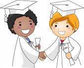 Illustration of Kids Congratulating Each Other