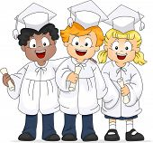 Illustration of a Group of Graduates