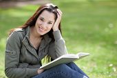 foto of native american ethnicity  - A shot of an ethnic college student studying on campus - JPG