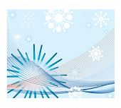 netting with snowflakes and stars vector